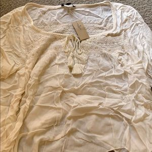 Cream color blouse American eagle